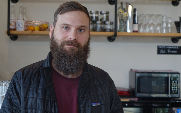 Matthieu Cotteret, co-owner of the Emmalou cafe in New Plymouth, expects the French to lift for their match against the All Blacks on Sunday 18 October.