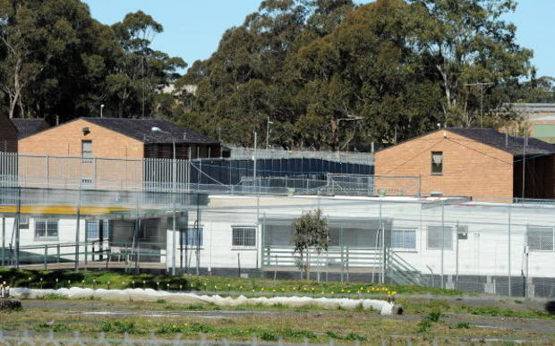 Steel fences surround Villawood Detention Centre in Sydney, which has been used to house refugees and those facing deportation (2010).