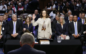 Acting Director of the Central Intelligence Agency Gina Haspel during her confirmation hearing before the United States Senate Intelligence Committee.