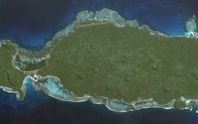 A satellite view of Rotuma