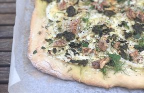 Fennel, mint and ricotta flatbread by Delaney Mes