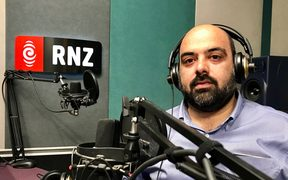 Afghan journalist and parliamentary candidate Bilal Sarwary in RNZ's Auckland studio.