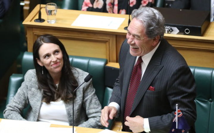 PM Jacinda Ardern and Deputy PM Winston Peters