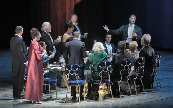 A scene from The Exterminating Angel at Metropolitan Opera