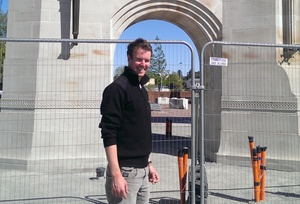 SCIRT site engineer David Kennedy described fixing Christchurch's earthquake-damaged Triumphal Arch as one of his most challenging jobs yet.