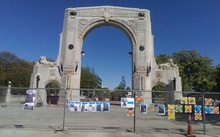 Christchurch's Triumphal Arch was built in 1924 and damaged in the 2010 and 2011 Canterbury earthquakes.