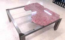 The smashed marble table.