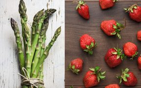 Asparagus and stawberries