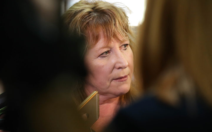 Minister for Broadcasting, Clare Curran answers questions from journalists
