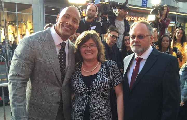 Seismologist Lucy Jones at the red carpet premier of the quake disaster movie, San Andreas starring Dwanye (the Rock) Johnson. (2015)