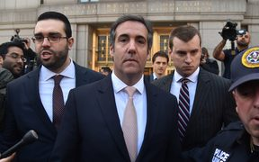 US President Donald Trump's personal lawyer Michael Cohen leaves the US Courthouse in New York on April 26, 2018.