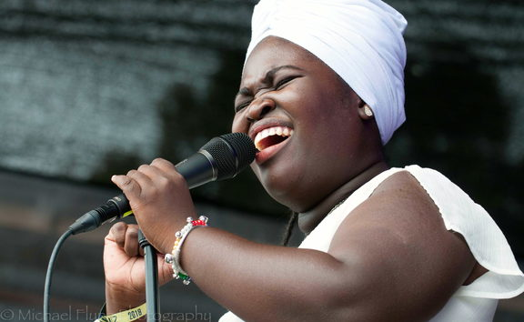 Daymé Arocena performing at Womad NZ 2018