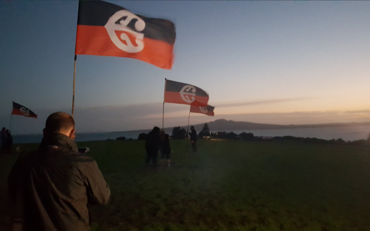 A dawn ceremony this morning marked 40 years since the protest ended at Takaparawhau.