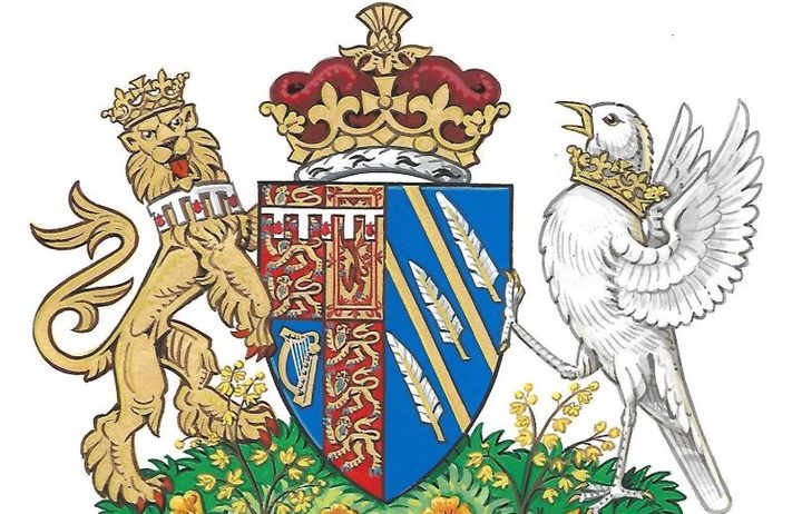 The coat of arms created for the Duke and Duchess of Sussex.