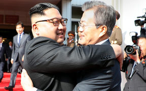 South Korea said President Moon Jae-in met with North Korea's leader Kim Jong Un inside the Demilitarised Zone dividing the two nations, a day after US President Donald Trump threatened to abandon a summit with Pyongyang.