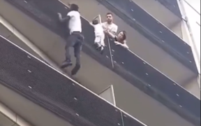 A passerby captured the rescue on video.
