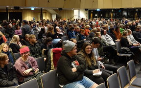About 600 people attended a free te reo class in Christchurch last night.