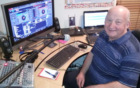 John Watson, creator of Sleep Radio in his home studio
