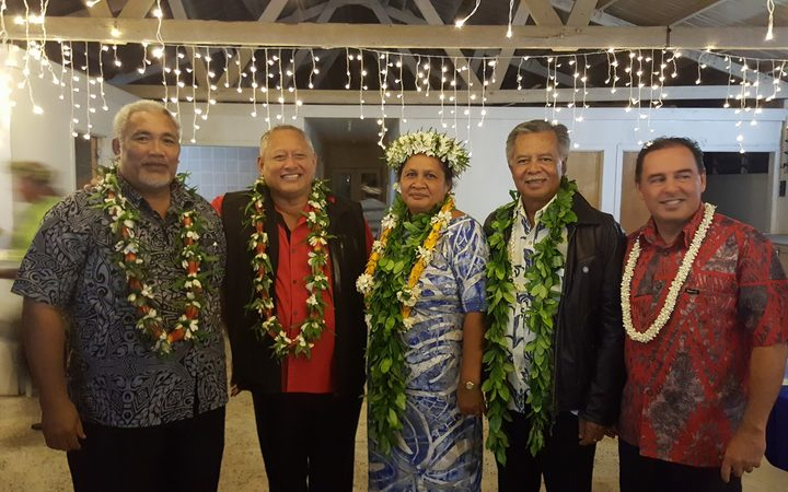Cook Islands Party leaders including current prime minister Henry Puna second from right.