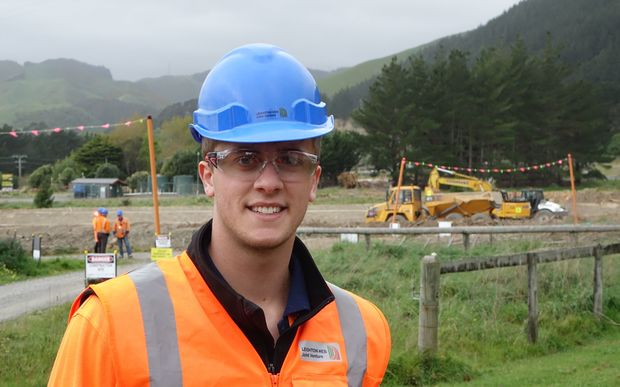 Young site engineer Antony Feek.