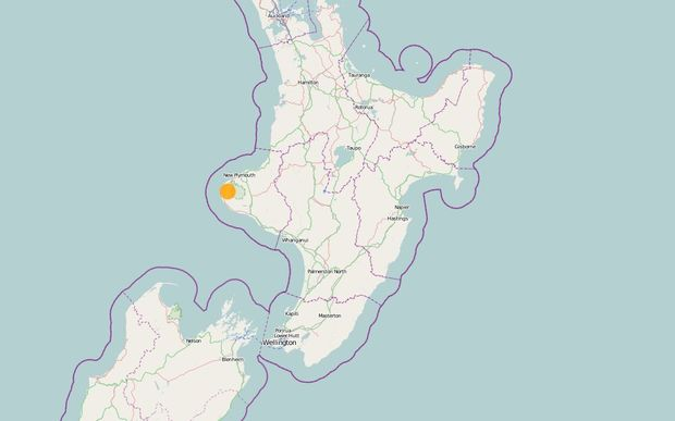 A map showing the location of the earthquake.