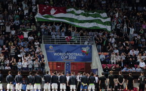 Abkhazia v Northern Cyprus during the 2016 World Football Cup