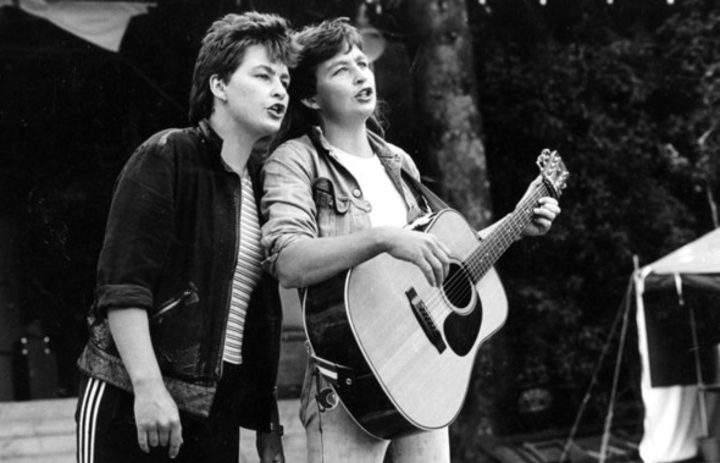 The Topp Twins, Lynda and Jools, early 1980s