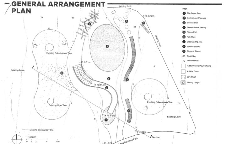 The plan for the playground.