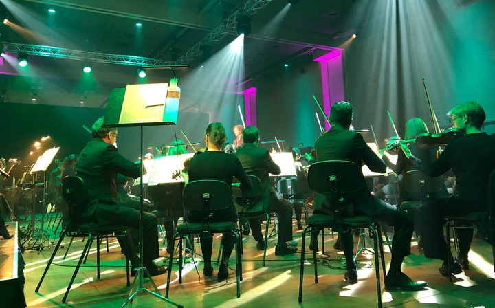 NZSO performing at Shed 6