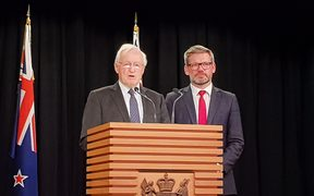 Former prime minister Jim Bolger and Minister of Workplace Relations Iain Lees-Galloway have announced a plan to set up Fair Pay Agreements.