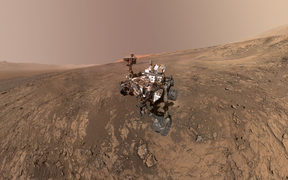 This self-portrait of NASA's Curiosity Mars rover obtained February 4, 2018 shows the vehicle on Vera Rubin Ridge