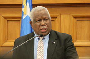 Solomon Islands Prime Minister Rick Hou