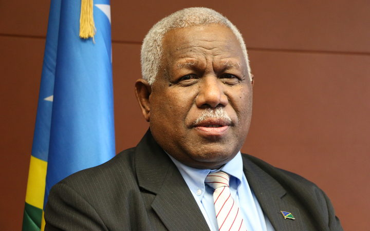Rick Hou the Prime Minister of Solomon Islands..