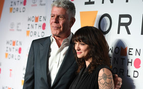 Chef Anthony Bourdain and Italian actress Asia Argento attend the 2018 Women In The World Summit at Lincoln Center in New York City.