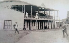 The Takaka grandstand was built in 1899 from local timber.