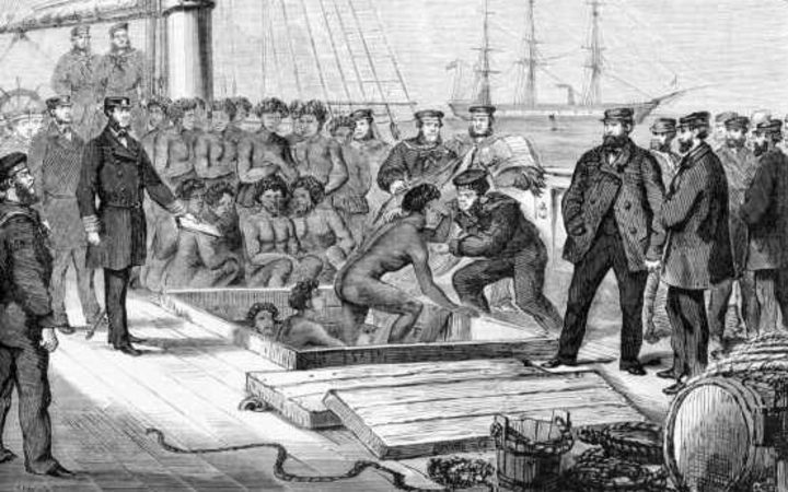 Seizure of the blackbirding schooner Daphne in 1869.