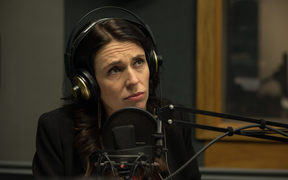 Prime Minister Jacinda Ardern talking to Morning Report in the RNZ Auckland studio.