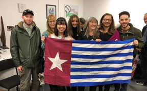 Supporters and members of the West Papua Desk in Auckland