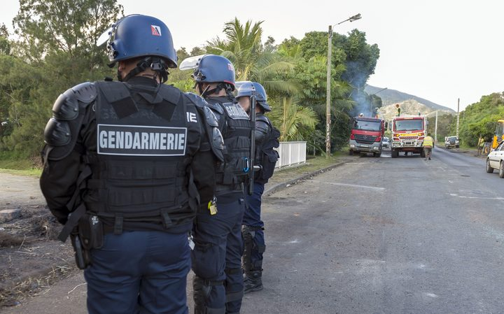 French police officers in New Caledonia.