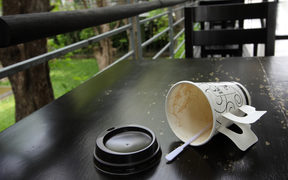 Coffee lids are now rubbish.