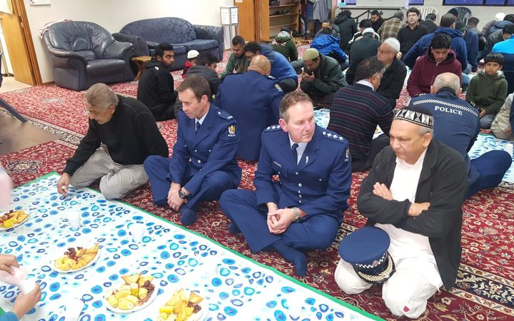 Officers joined Muslims for Iftar at NZMA's Islamic centres and mosques this year.