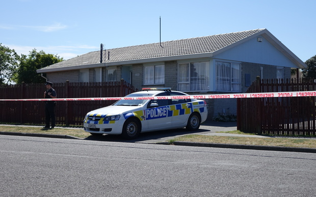 The house in Mecca Street where a man was found dead.