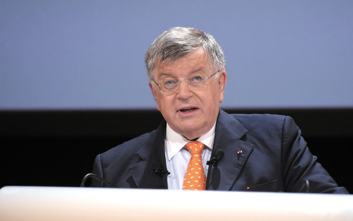 France Telecom's President Didier Lombard delivers a speech in 2010 in Paris during a general meeting.