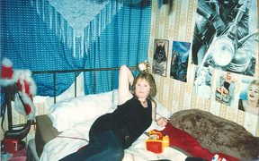 Gail Maney in Tania Wilson's bedroom.