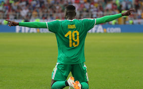 5542036 19.06.2018 Senegal's Mbaye Niang celebrates the goal during the World Cup Group H soccer match between Poland and Senegal at the Spartak stadium in Moscow, Russia, June 19, 2018. Vitaliy Belousov / Sputnik