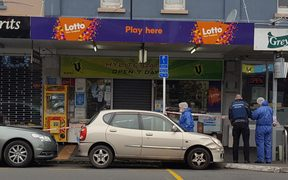 The dairy in Grey Lynn where a mother and her adult son were stabbed.