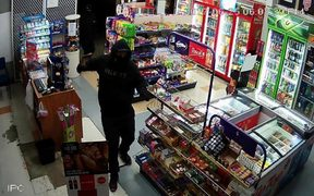Video footage shows one of the offenders inside Aberdeen Superette.