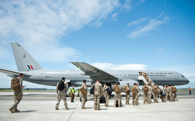 New Zealand Defence Force personnel depart for a Mission Readiness Exercise in Australia.