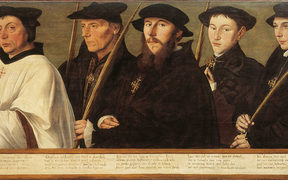 Five Members of the Utrecht Brotherhood of Jerusalem Pilgrims - Jan van Scorel (1495-1552)