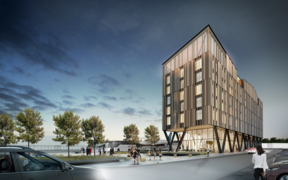 Artist's impression of plans for the Christchurch Novotel at the airport.